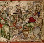 Harald defeating Northumbrian army