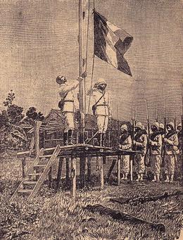 Подъём французского флага