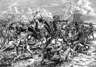 Сражение испанцев и тагальцев
