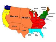 Map of colonization EC