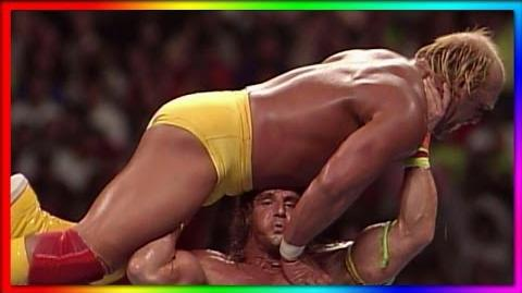 Hulk Hogan vs. Ultimate Warrior- WrestleMania VI - Champion vs Champion. Champion Match
