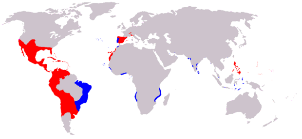 Spanish and Portugese Colonial possessions 1580-1640