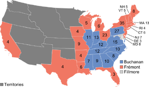 1856 Presidential Map (1861 HF)