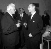 Alexander Dubček with President Svoboda (WFAC)
