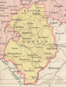 Bastar mapa