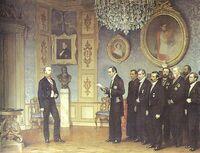 Ofrecimiento de la Corona de México a Maximiliano de Habsburgo en Miramar (Reino de Quito)