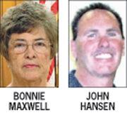 Current mayor Bonnie Maxwell and challenger John Hansen