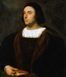 TITIAN; Portrait of Jacopo Sannazaro (1514-18)