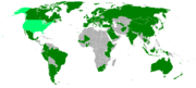 Countries visited by President McCain