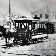 Horse streetcar