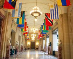 Banderas Americanas Pasillo