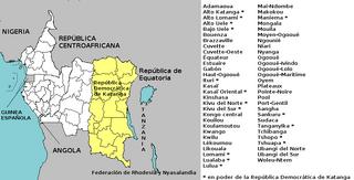 Federación de la Guinea Ecuatorial admin mapa