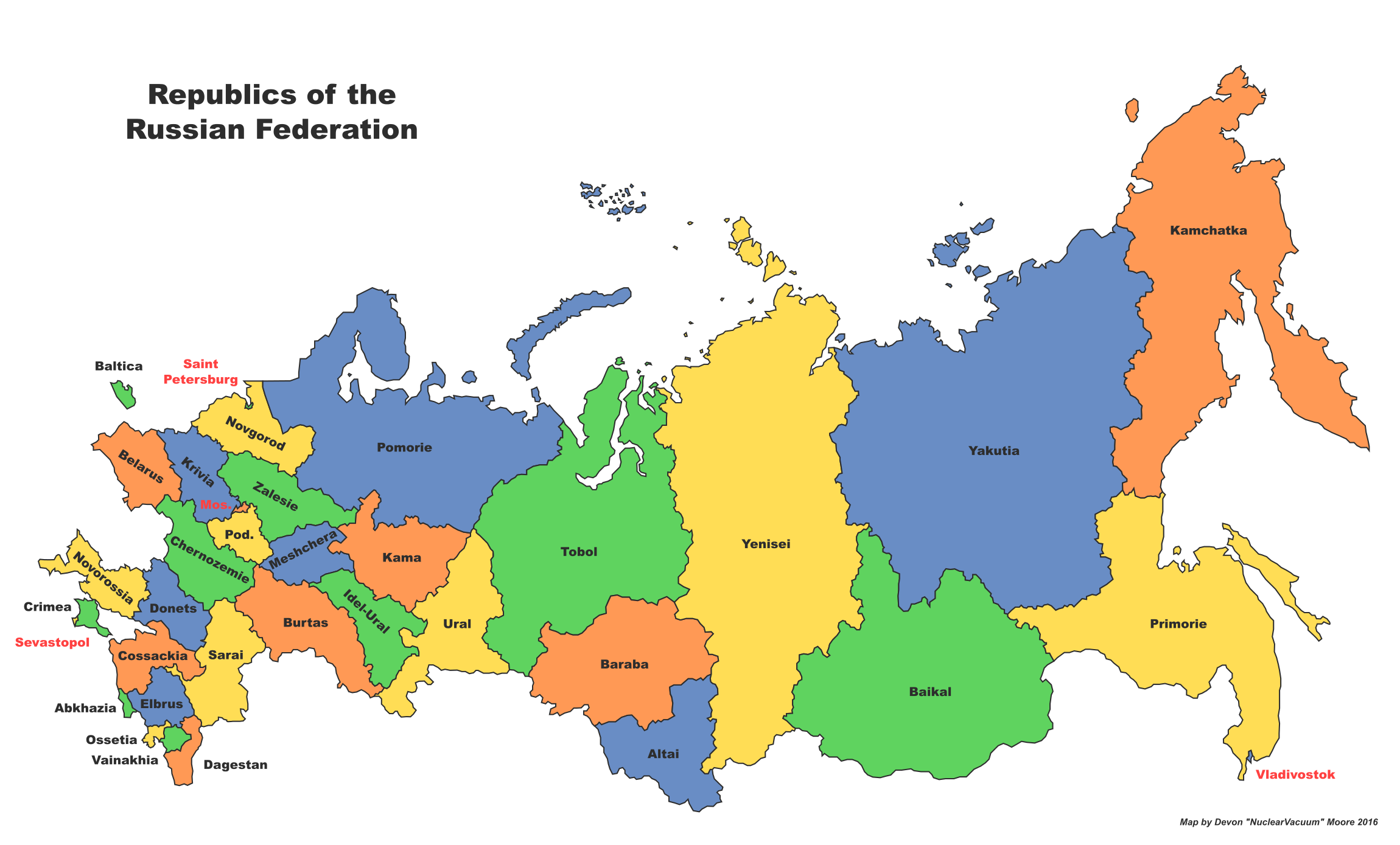 Image   Map of Russia (Russian America).png | Alternative History