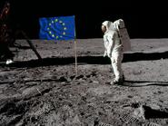 Флаг ЕС на луне