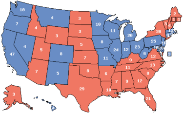 1988 Electoral Map (Ford Momentum)