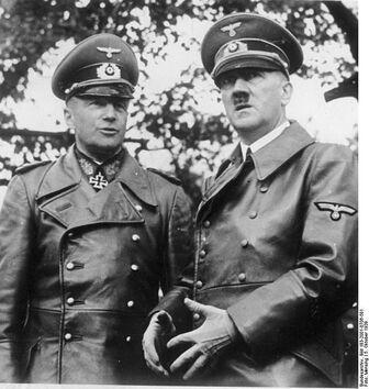 Brauchitsch and Adolf Hitler