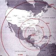 Cuban crisis map missile range