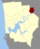 Map of Bassendean County