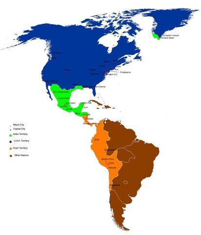 AztekenAmerikakarte
