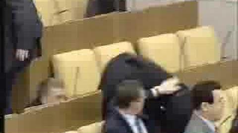 Жириновский дерётся LIVE