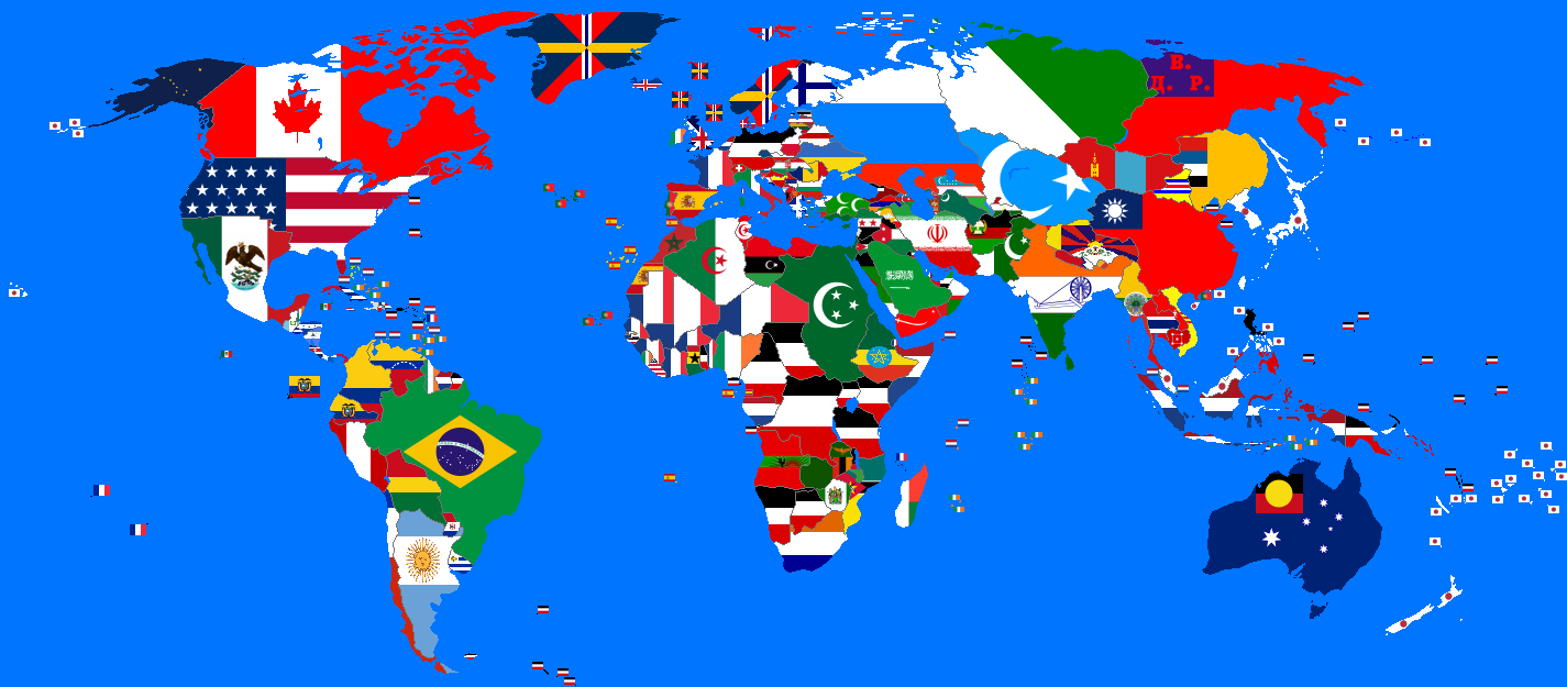 All world countries map flag capital city pronunciation youtube 0371 flags and world map blue 10001063jpg middle gumiabroncs Image collections