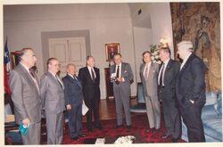 Juan Carlos Stack junto al Presidente Aylwin