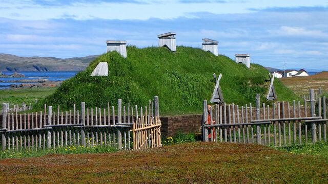 File:L'Anse aux Meadows, recreated long house.jpg