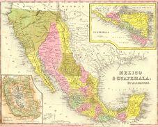 Mexico 1850 Map