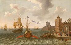 Abraham Willaerts, Galley and men of war