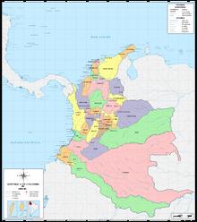 Colombia mapa 1910