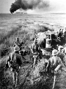 German troops crossing the Soviet border