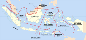 Map of Indonesia (Russian America)