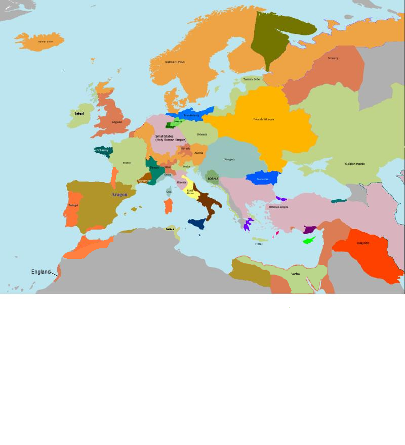1400 1431 Imperial Europe Map Game 2 Alternative History