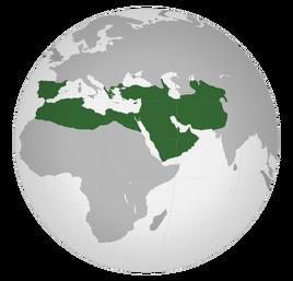 Карта Арабского халифата 730