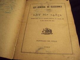 Ley General de Elecciones Nº 14.852 (1963)