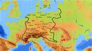 Karte Grossdeutscher Bund