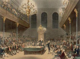 Палата Общин, выступление вигов