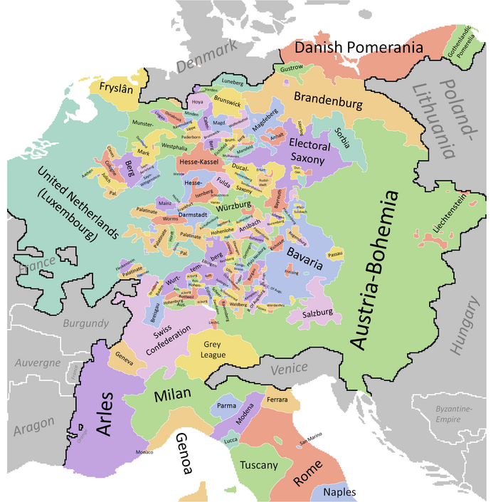 HRE Map (The Kalmar Union)
