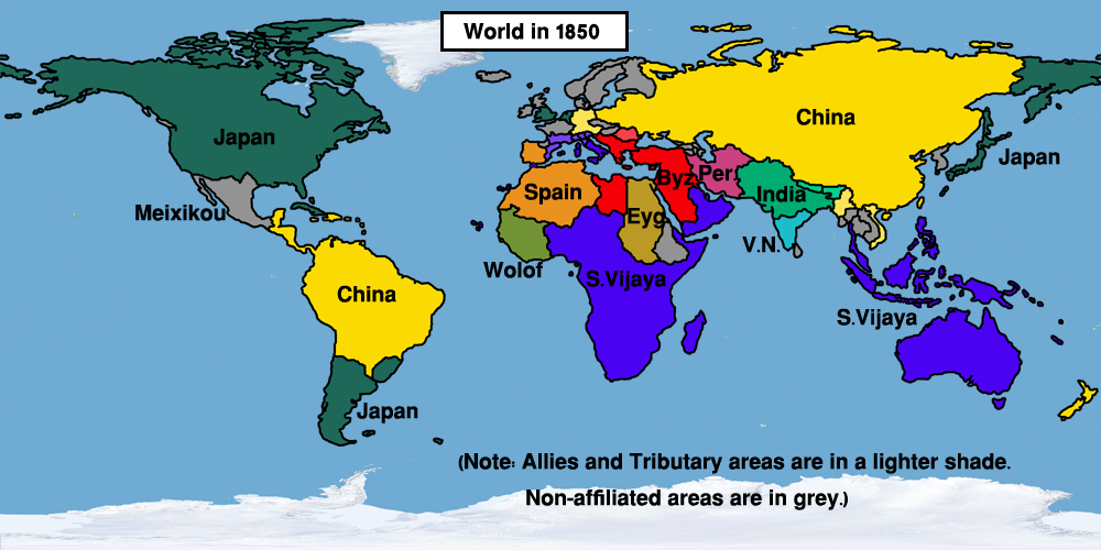 Image   Map World 1850 (Easternized World).png | Alternative