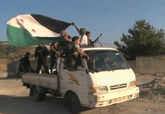 FSA soldiers in truck moving