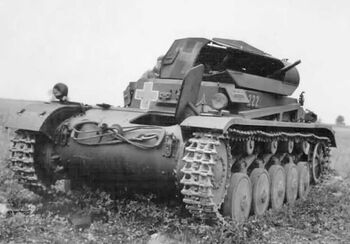 Destroyed Pz.Kpfw. II near Plan (WFAC)