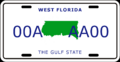 License plate of West Florida.png