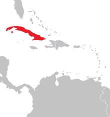 Location of Havana