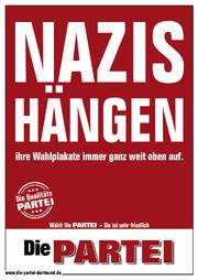 Nazis-hängen PARTEI Plakat