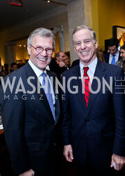 FMR Sen. Tom Daschle, FMR Gov. Howard Dean. Photo by Tony Powell. 2013 NDI Democracy Dinner. Ritz Carlton. December 10, 2013-XL