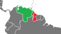 (AvA) revised. Guayana Esequiba crisis as of 1950..png