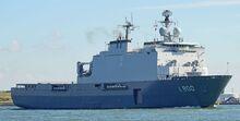 HNLMS Rotterdam at Nieuwe Waterweg, Starboard Bow, 05.09.2016