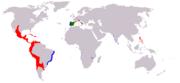 Philip II's realms in 1598