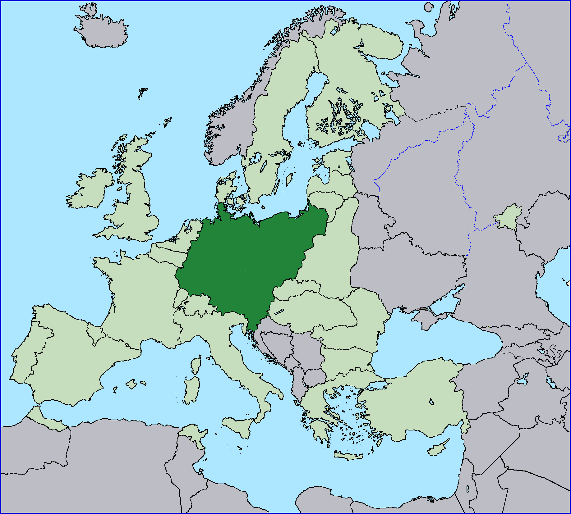 Germany (Groß-Deutschland) | Alternative History | FANDOM ... on germnay on a world map, germany country world map, germany on world map, emden germany map, germany physical map, europe map, english language world map, germany vegetation map, germany map world map, cuxhaven germany map,