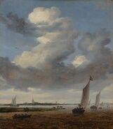 View of Beverwijk from the Wijkermeer by Salomon van Ruysdael Mauritshuis 1117